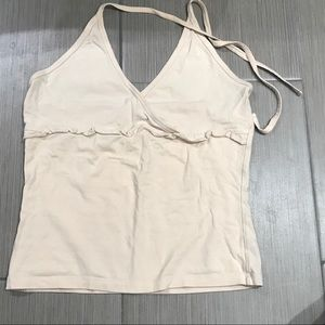 Frilly halter top